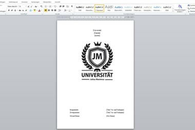 Deckblatt für die Bachelorarbeit gestalten