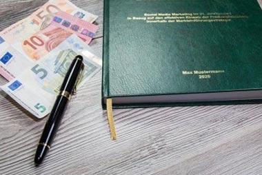 Kosten für das Drucken und Binden der Seminararbeit