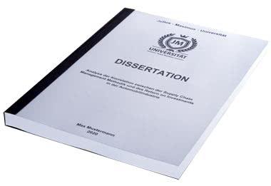 Dissertation verlegen