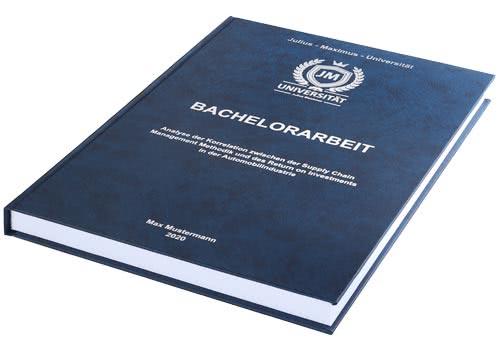 Kosten und Preise Bachelorarbeit drucken und binden im Hardcover