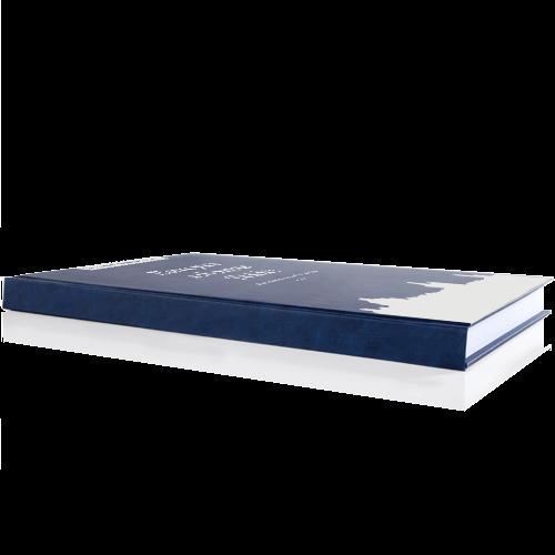Buch drucken Premium Buchrücken blau