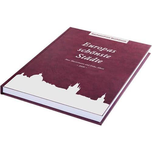 Buch drucken mit Premium Hardcover rot