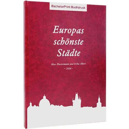 Buch drucken mit Standard Hardcover rot