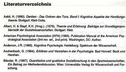 Literaturverzeichnis - das Regelwerk für deine Diplomarbeit