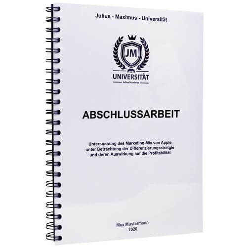 thesis drucken und binden gießen