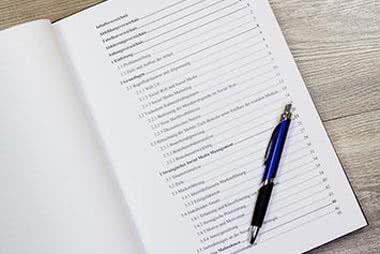 Das Inhaltsverzeichnis in der Doktorarbeit