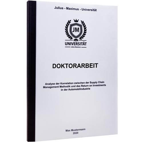 Doktorarbeit drucken Göttingen
