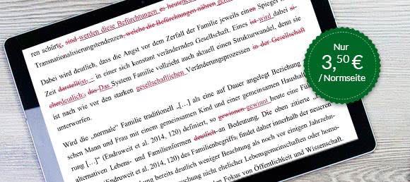 Korrekturlesen (Korrektorat) Deutsch-Muttersprachler