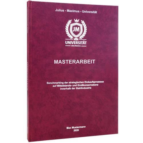 Masterarbeit binden Erlangen