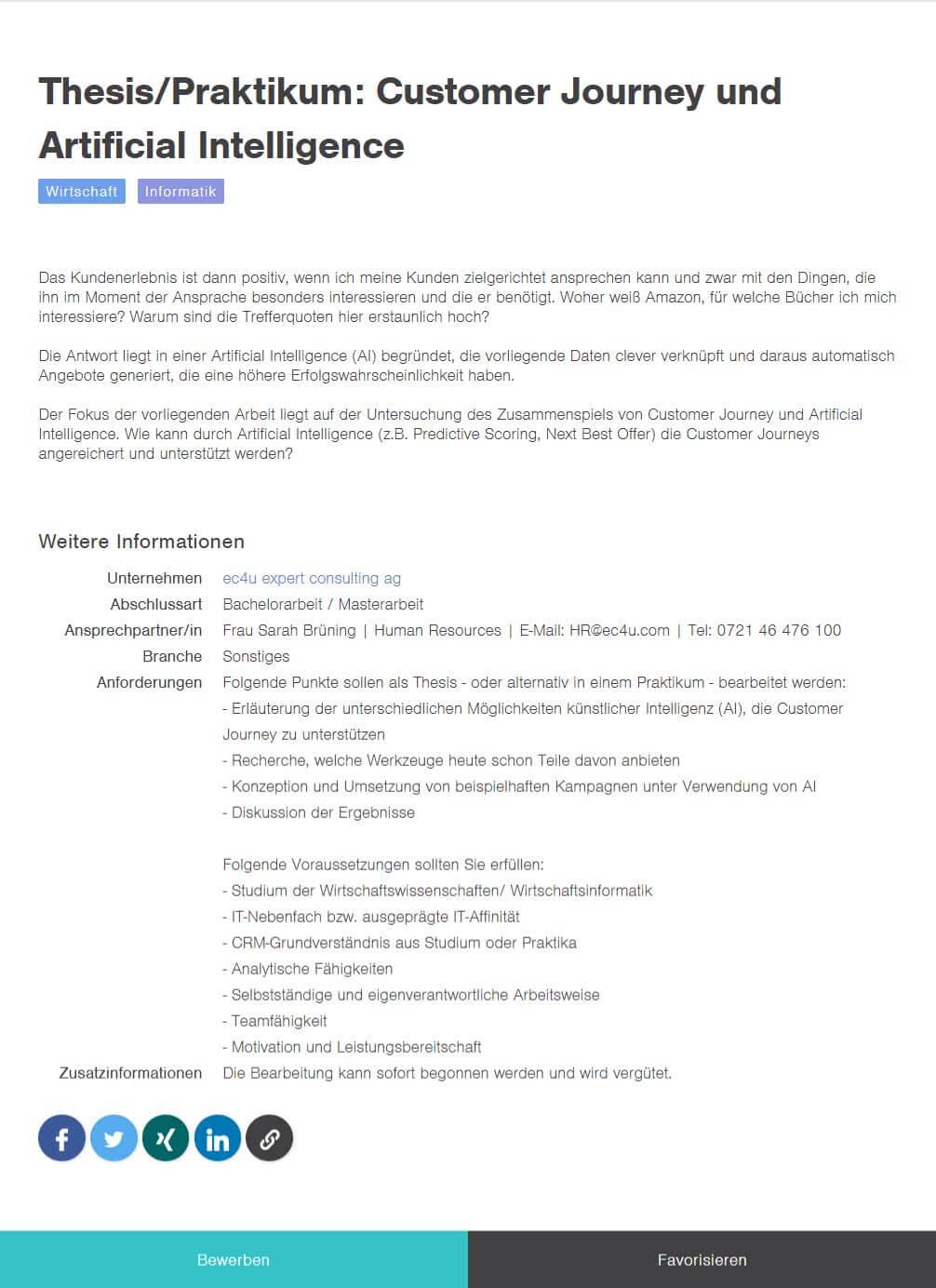 Bachelor thesis im unternehmen schreiben impressa jura