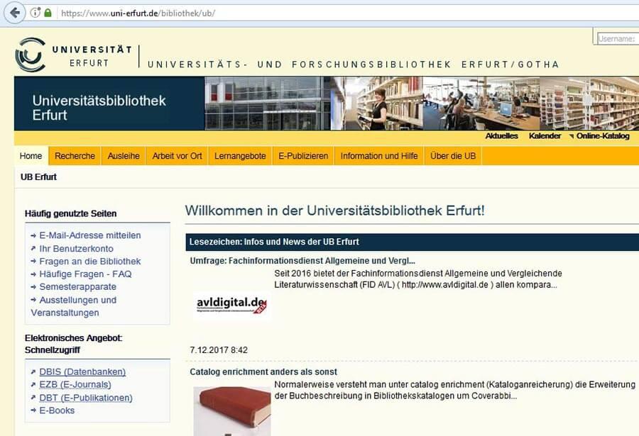 DBIS Link für Internetrecherche
