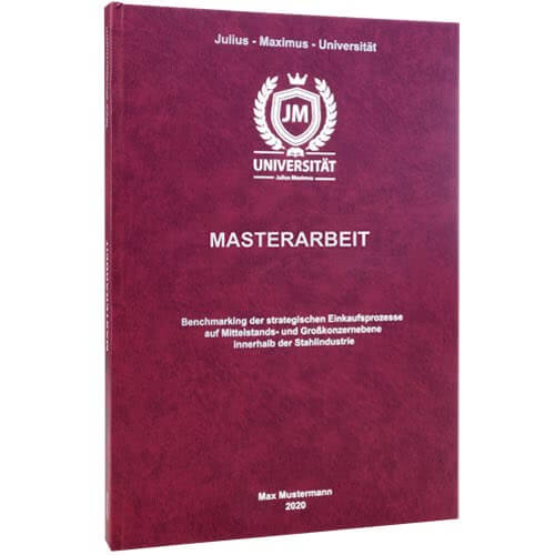 Masterarbeit binden Bamberg