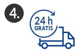 Schritt 4 Kostenlose 24h-Express-Lieferung nach dem Drucken & Binden der Abschlussarbeit