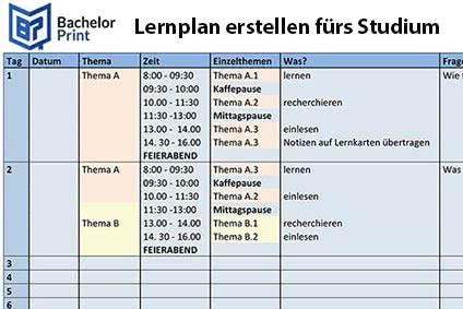 Lernplan erstellen