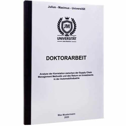 Doktorarbeit drucken Darmstadt