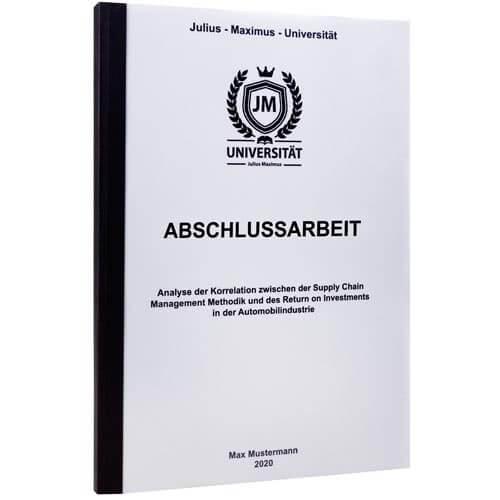Abschlussarbeit binden Wuppertal