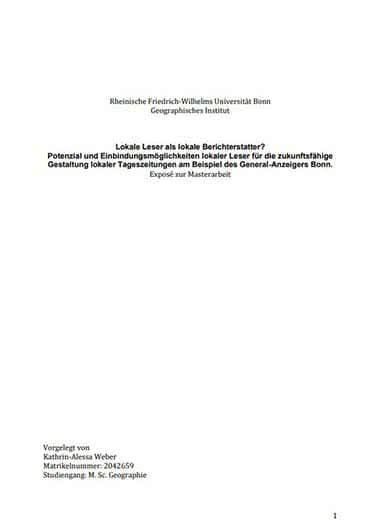 Exposé Zur Bachelorarbeit Exposé Schreiben Mit Beispielen