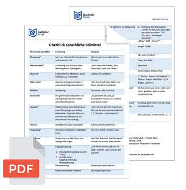 PDF Stilmittel sprachliche Mittel