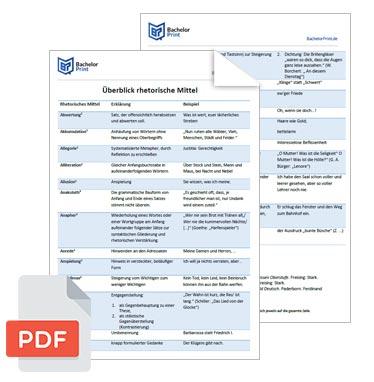 rhetorische Mittel PDF Überblick