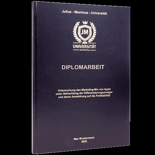 Diplomarbeit binden lassen mit Standard Hardcover