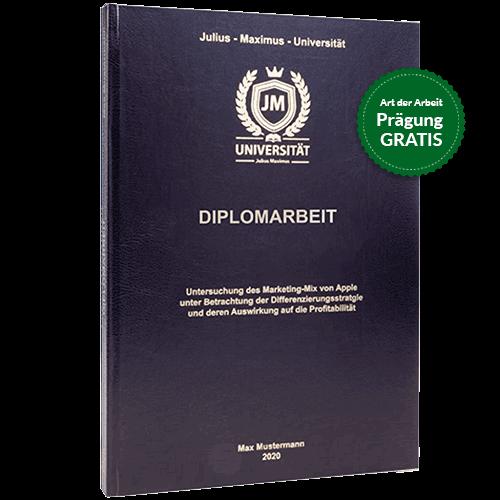 Diplomarbeit binden mit Standard Hardcover schwarz