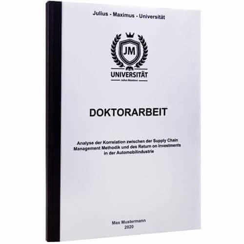 Doktorarbeit drucken Chemnitz