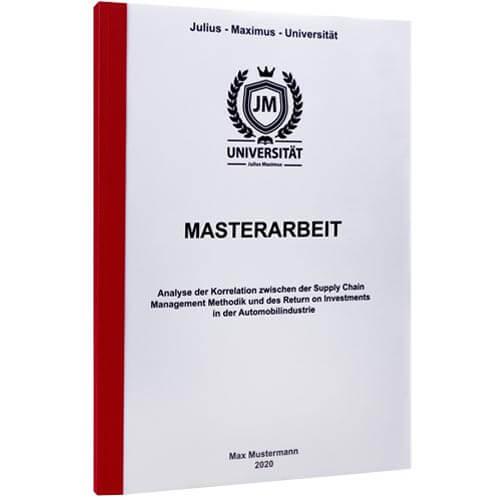 Masterarbeit drucken Würzburg