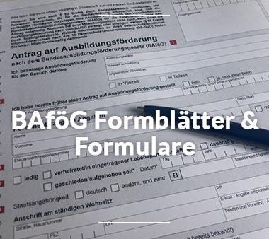 Zu den BAföG Formblättern & Formularen