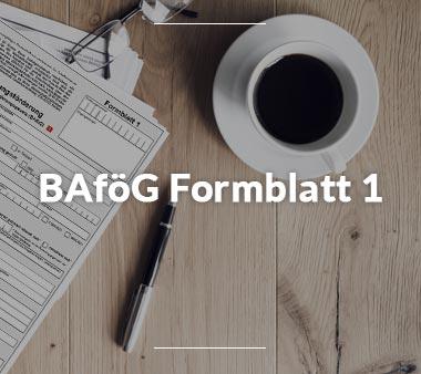 Zum BAföG Formblatt 1