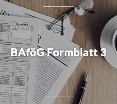 Zum BAföG Formblatt 3