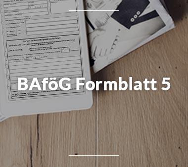 Zum BAföG Formblatt 5