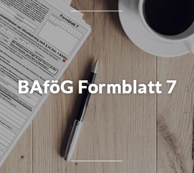 Zum BAföG Formblatt 7