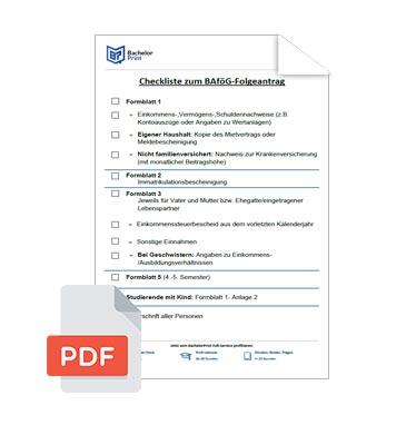 BaföG Folgeantrag Checkliste