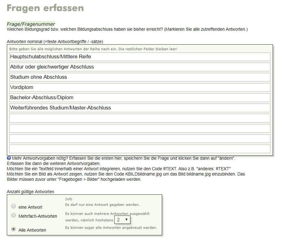 bachelor thesis fragebogen erstellen