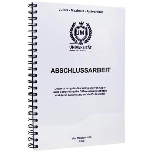 Abschlussarbeit drucken Ludwigsburg