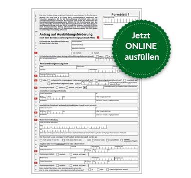 BAföG Formblatt 1 S1