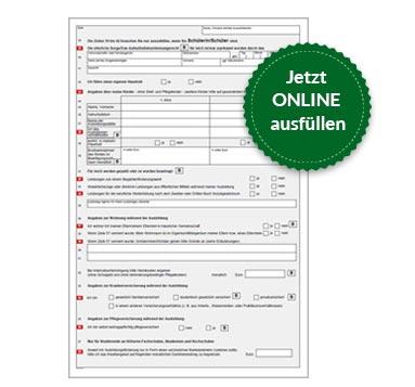 BAföG Formblatt 1 S2