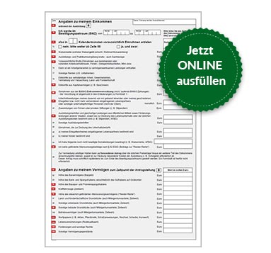 BAföG Formblatt 1 S3