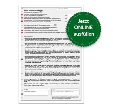 BAföG Formblatt 1 S4