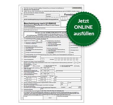 BAföG Formblatt 2 S1