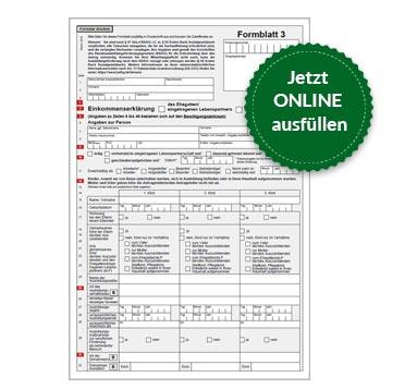 BAföG Formblatt 3 S1