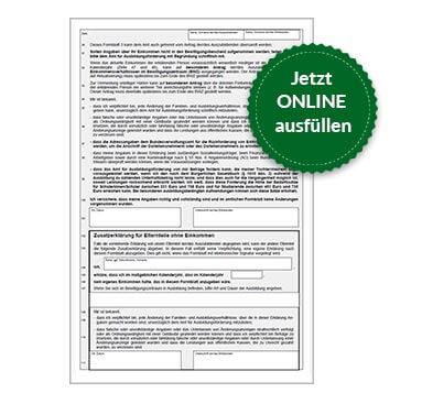 BAföG Formblatt 3 S4