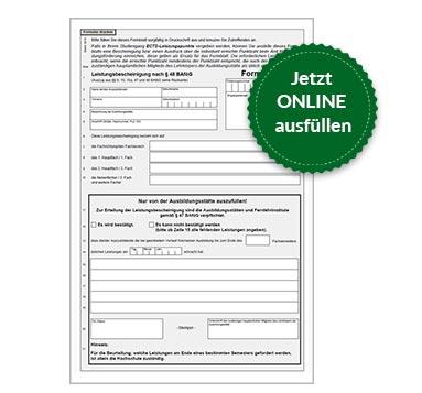 BAföG Formblatt 5
