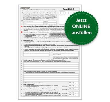 BAföG Formblatt 7 S1
