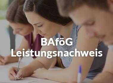 BAföG Bewilligungszeitraum Leistungsnachweis