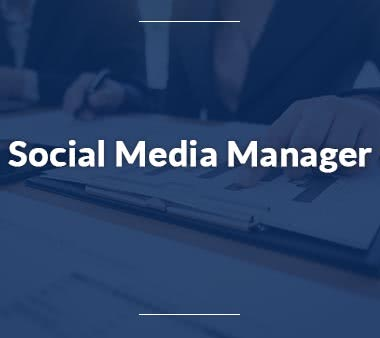 Marketing Manager Social Media Manager