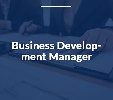 Projektmanager Business Development Manager