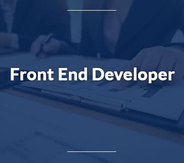 Sales Manager Front End Developer