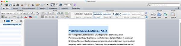 Überschrift Inhaltsverzeichnis Word Mac