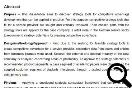 Abstract Schreiben Beispiele Für Bachelorarbeit Masterarbeit
